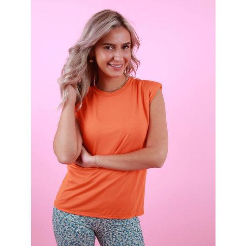JUMELLE T-Shirt Met Schoudervulling Oranje