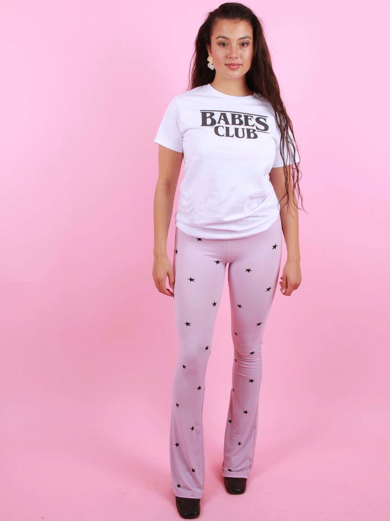 AMBIKA Flared Pants Star Lilac