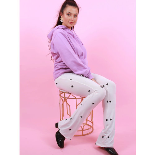 AMBIKA Flared Pants Star White