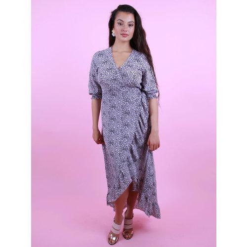 AMBIKA Maxi Cheetah Dress Lilac