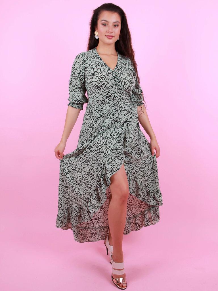 AMBIKA Maxi Cheetah Dress Mint