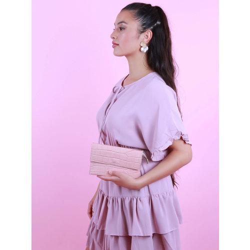 TEATRO Ivy - Croco - Crossbody bag - Pink