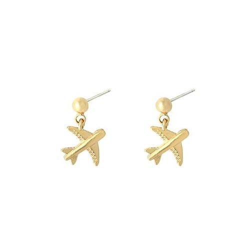 YEHWANG Earrings Airplane I Gold