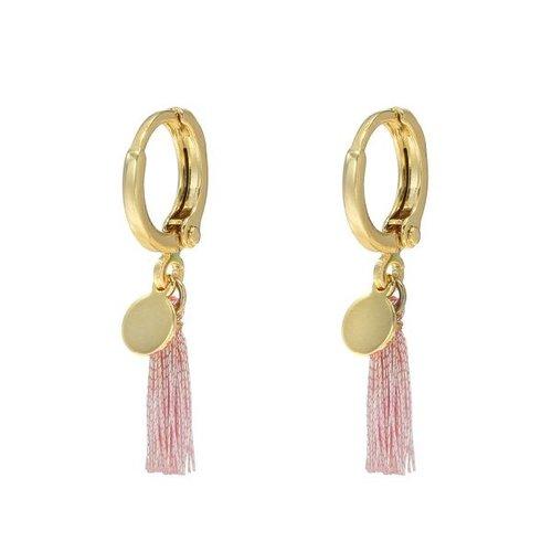YEHWANG Earrings Shiny Tassel Gold