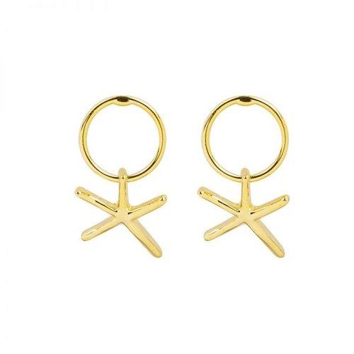 YEHWANG Earrings Lost in Sea Gold