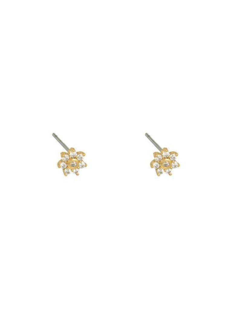 LADYLIKE THE LABEL Earrings Mini Flower Gold