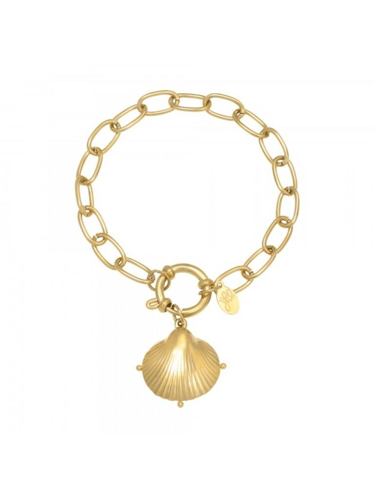 LADYLIKE Bracelet Clam Shell Gold