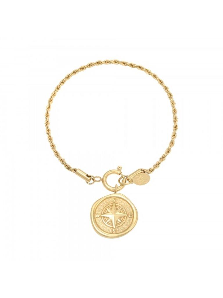 LADYLIKE Armband Compass Gold