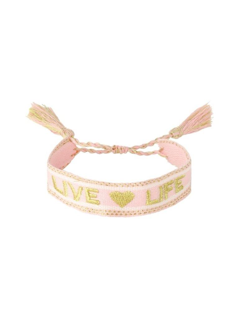 LADYLIKE Bracelet Woven Live Life Pink