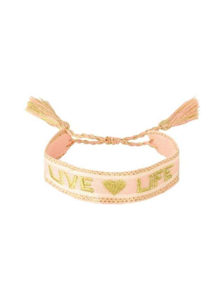 LADYLIKE Bracelet Woven Live Life Beige