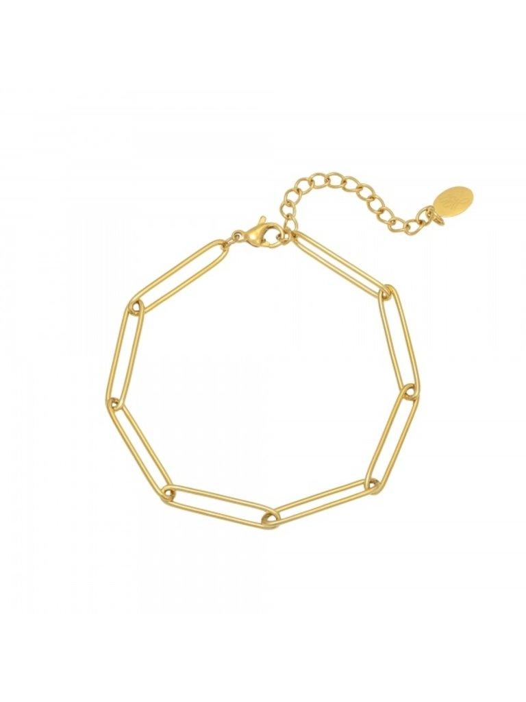 LADYLIKE Bracelet Plain Chain Gold
