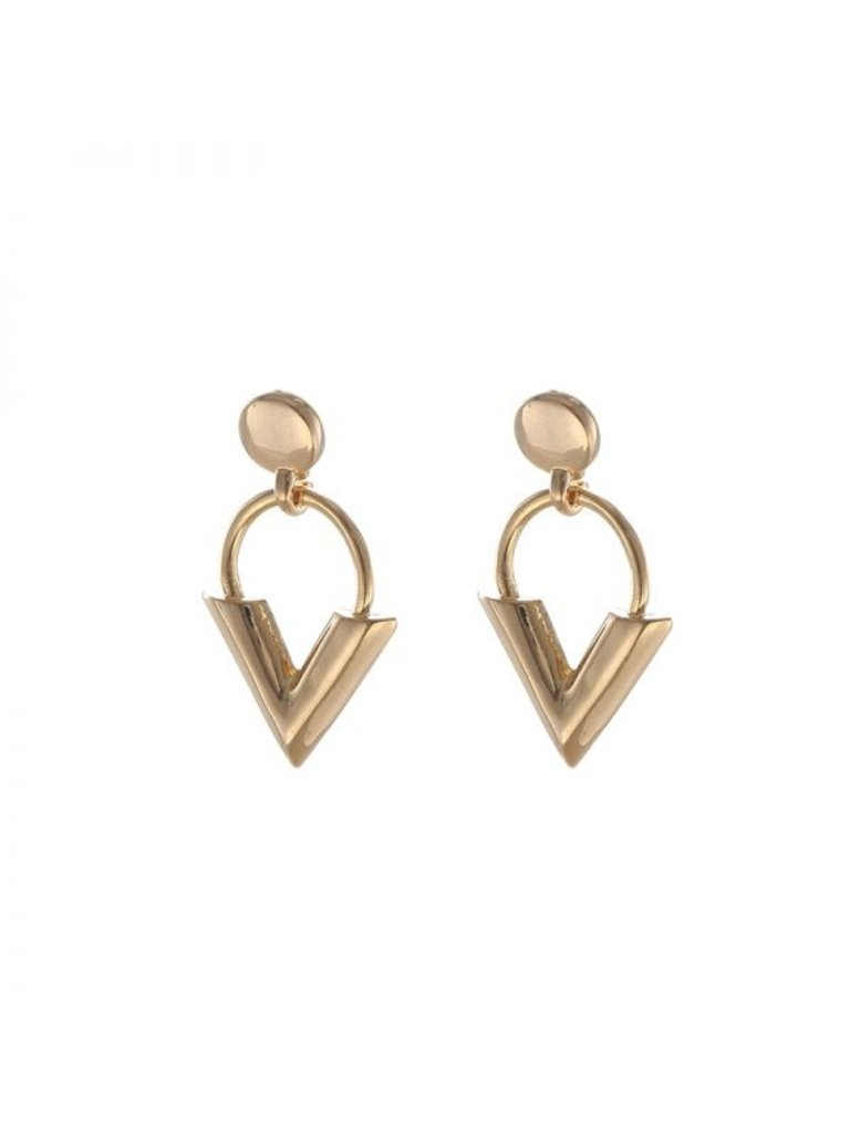 LADYLIKE Earrings Sweet V Gold