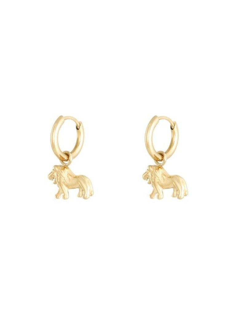 LADYLIKE Earrings Lion Gold