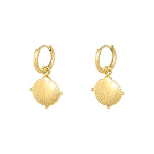 LADYLIKE Earrings Clam Shell Gold