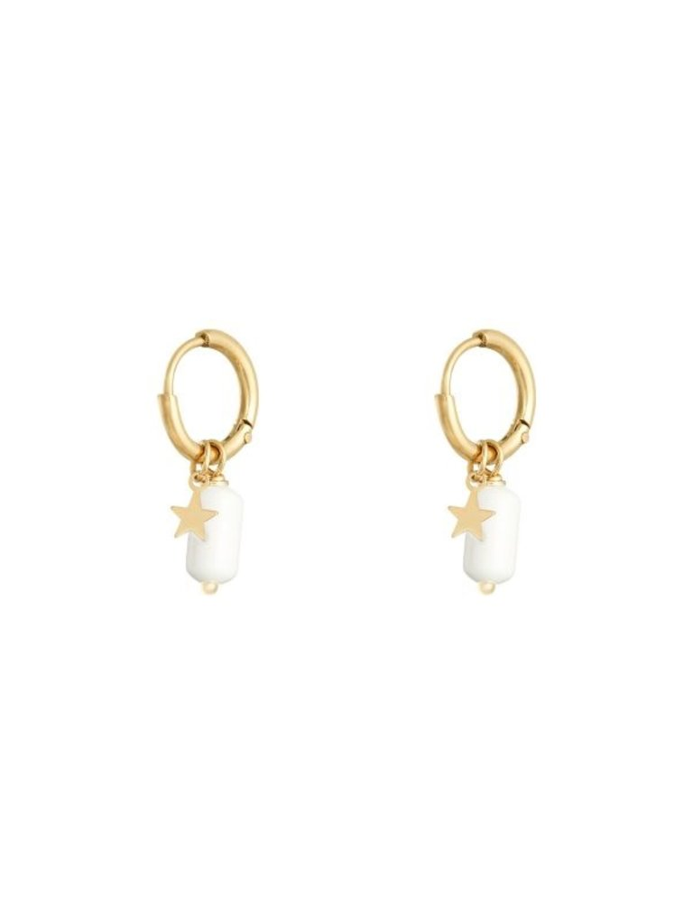 LADYLIKE Earrings Candy Gold/White