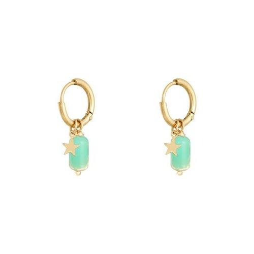 LADYLIKE Earrings Candy Gold/Green