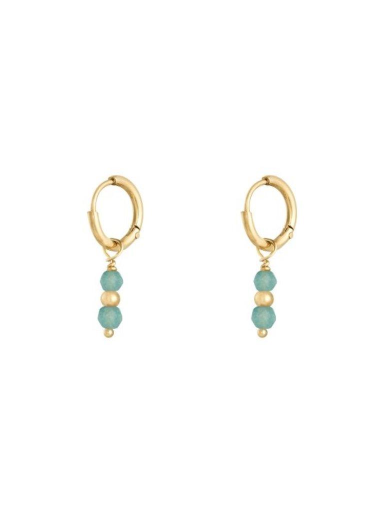 LADYLIKE Earrings Pineapple Gold/Blue