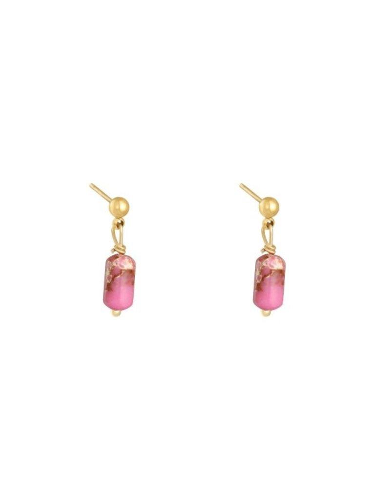 LADYLIKE Earrings Monarch Gold/Pink