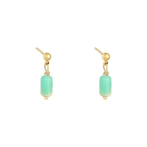 LADYLIKE Earrings Monarch Gold/Green