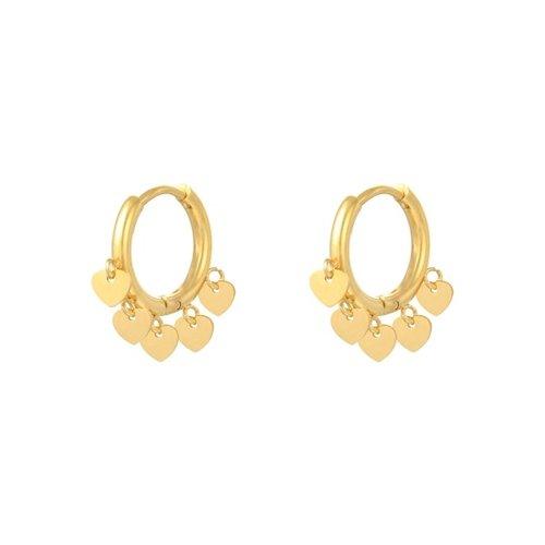 LADYLIKE Earrings Floating Hearts Gold