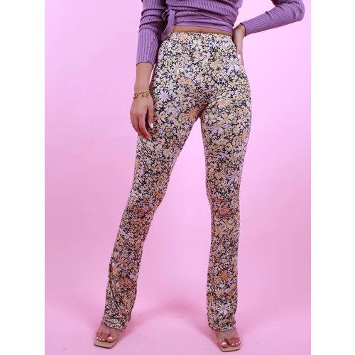 Ambika Soft Flower Flare Pants Yellow