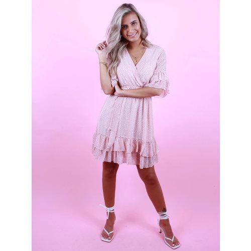 BY CLARA Sweet Leopard Dress Pink