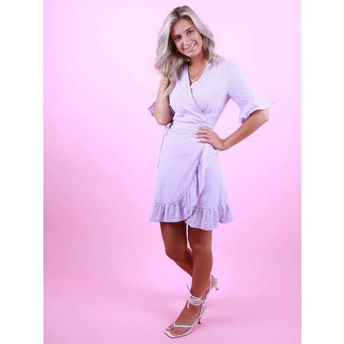 BY CLARA Wrap Dress Lilac