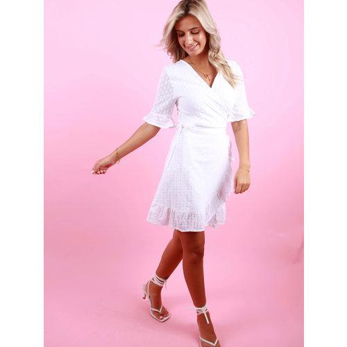 BY CLARA Wrap Dress White