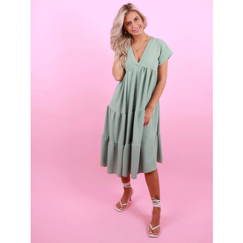 NEW COLLECTION Long Dress V-Neck Mint