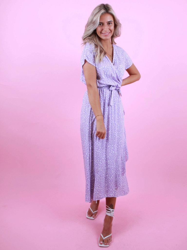 EIGHT PARIS Long Dots Dress Purple