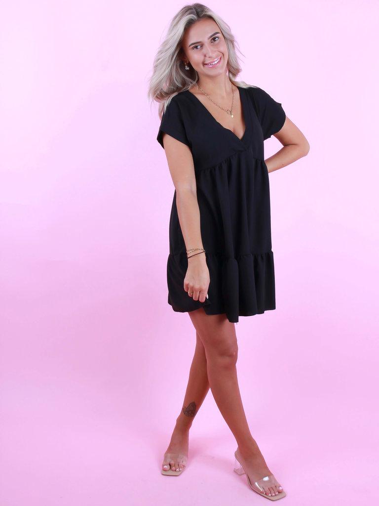 BELLE COPINE Dress V-Neck Black