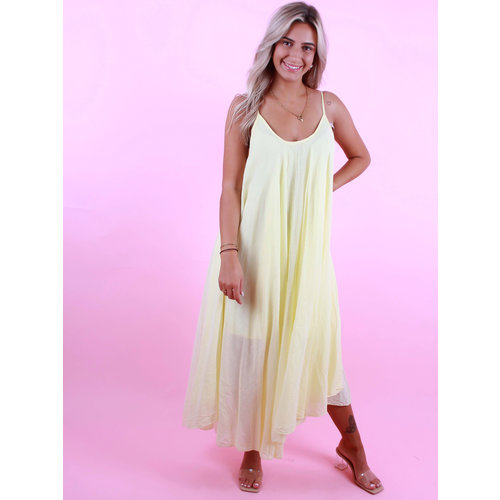 LADYLIKE FASHION Long Dress Yellow