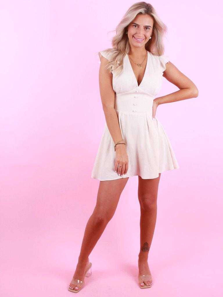 EIGHT PARIS Little Dress Beige