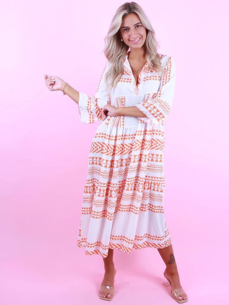 LIULI Maxi Summer Dress Orange