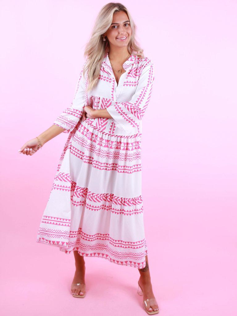 LIULI Maxi Summer Dress Pink