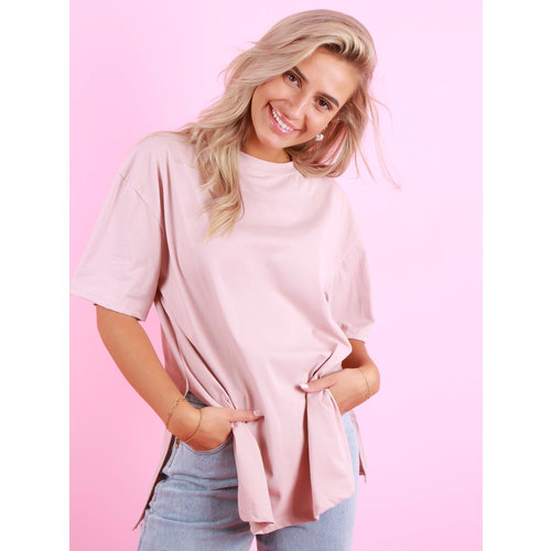 NEW COLLECTION Split T-Shirt Baby Roze