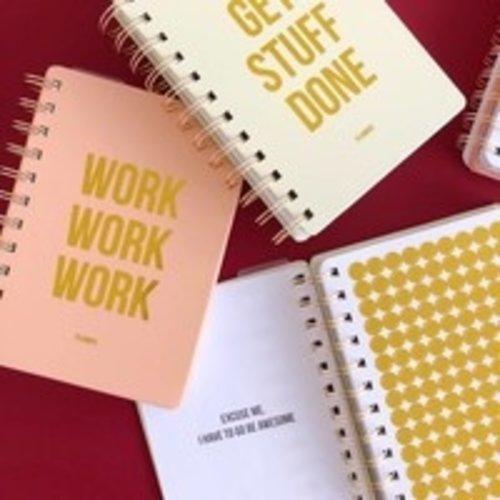 STUDIO STATIONERY Planner Work work work Blush