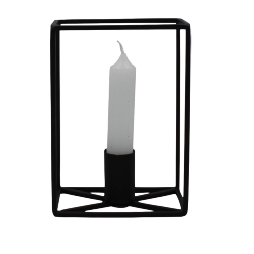 HOUSE VITAMIN Rectangular Candle Holder Black