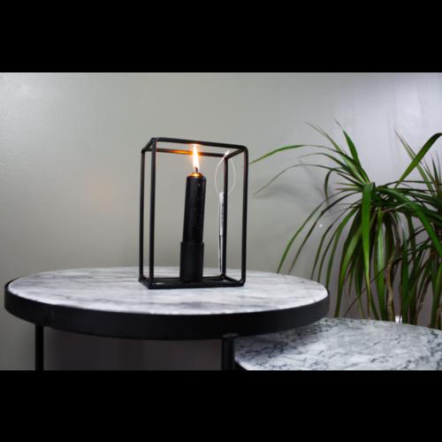 HOUSE VITAMIN Rectangular Candle Holder Black