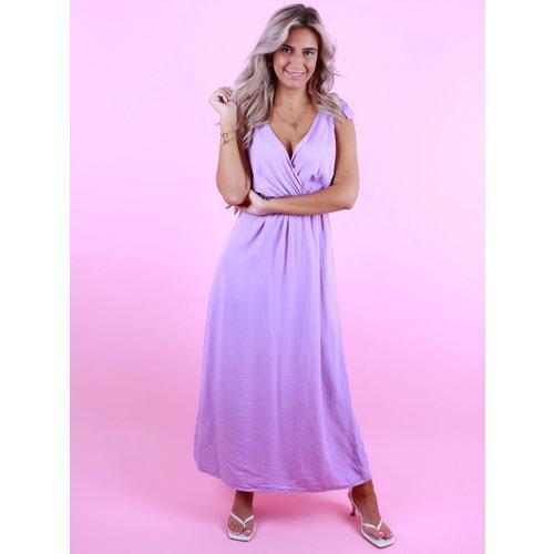 AMBIKA V-Neck Dress Purple