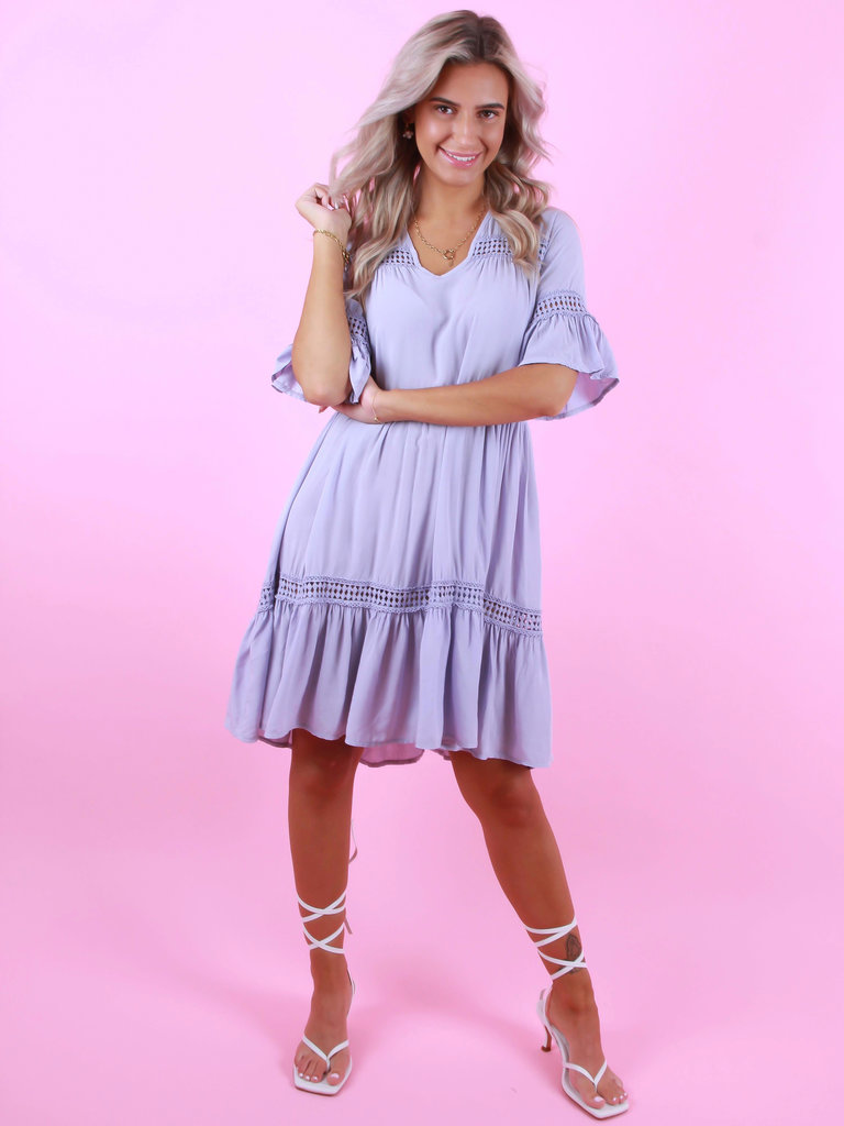 NEW COLLECTION Viscose Dress Lilac