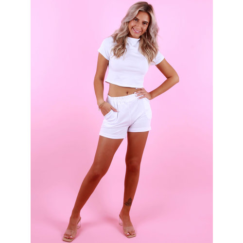 NEW COLLECTION Tricot Short White