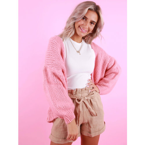 MIKA ELLES Knitted Cardigan Cotton Candy
