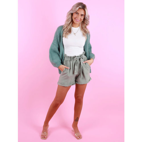 MIKA ELLES Knitted Cardigan Turquoise