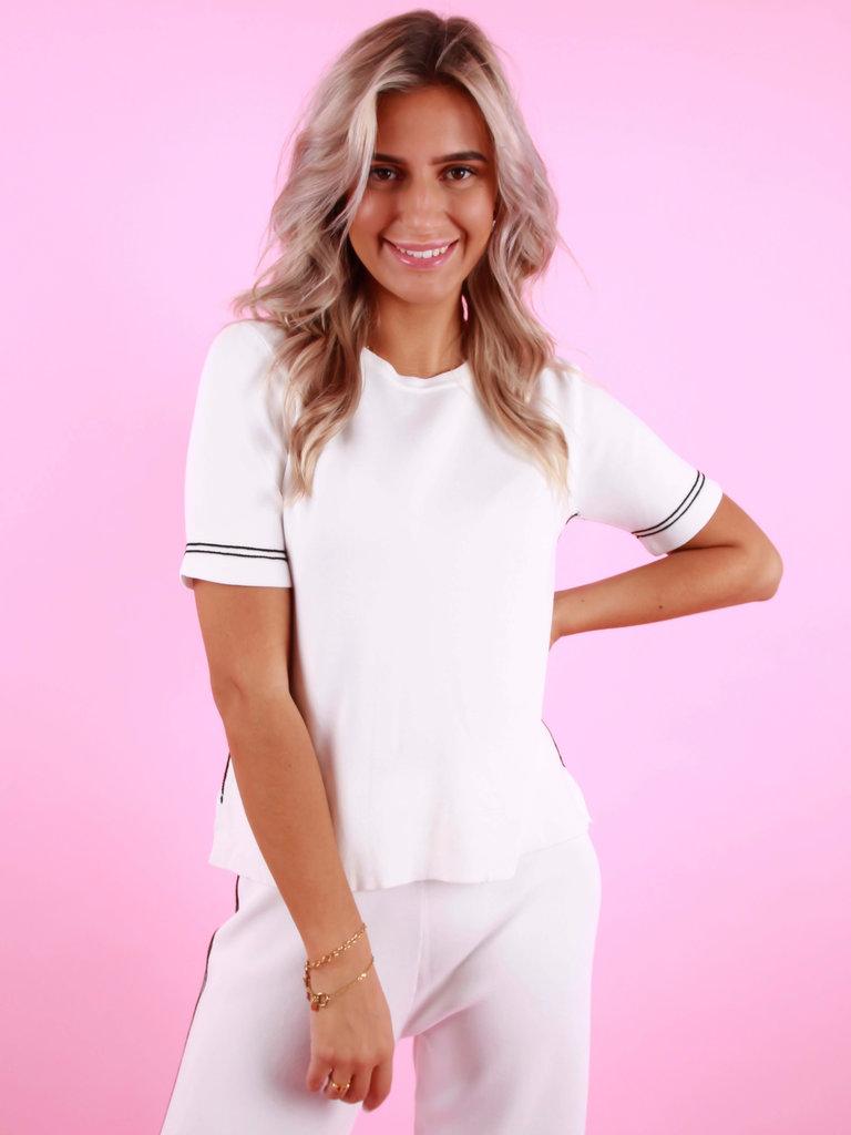 BISOU'S PROJECT Shirt Stripe White