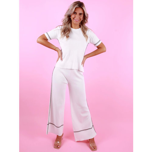 BISOU'S PROJECT Wide Leg Pants White