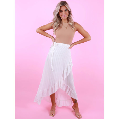 AMBIKA Wrap Skirt Shimmer White