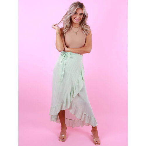 AMBIKA Wrap Skirt Shimmer Mint
