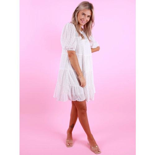 VERA & LUCY Little Stripe Dress White