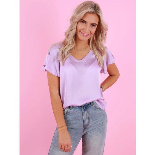 AMBIKA Satin Look Shirt Purple